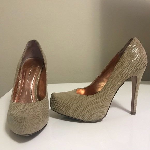 6637a6c6c630 BCBGeneration Shoes - BCBG Parade Suede Nude Platform Pumps Heels 6 36